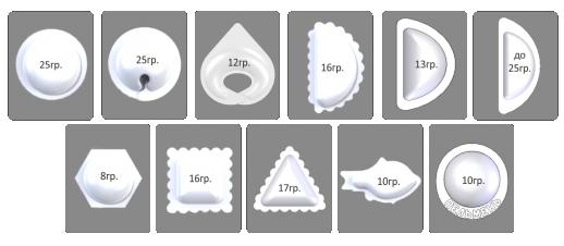 Виды форм пельменей